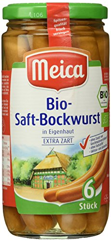 Meica Bio-Saft-Bockwurst in Eigenhaut extra zart, 6 Stück, 380 g
