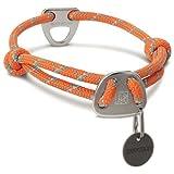 Ruffwear Seil-Halsband für Hunde, Mittelgroße Hunderassen, Größenverstellbar, Reflektorstreifen, Größe: M (36-51 cm), Orange (Pumpkin Orange), Knot-a-Collar, 25602-8551420