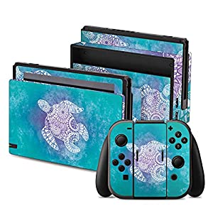 DeinDesign Skin Aufkleber Sticker Folie für Nintendo Switch Mandala Turtle Muster Pattern