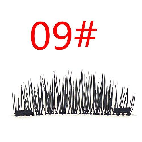 YouY® 4PCS Cils Faux Magnétiques Cils Naturels Eyelashes Extension Lashes
