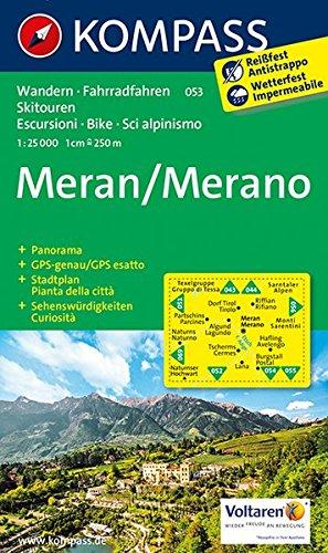 Preisvergleich Produktbild Meran / Merano 1 : 25 000 (KOMPASS-Wanderkarten, Band 53)