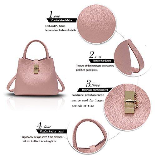 Tisdain Nuova borsa semplice colore moda femminile semplici secchi signore pacchetto diagonale spalla portafoglio Rosa