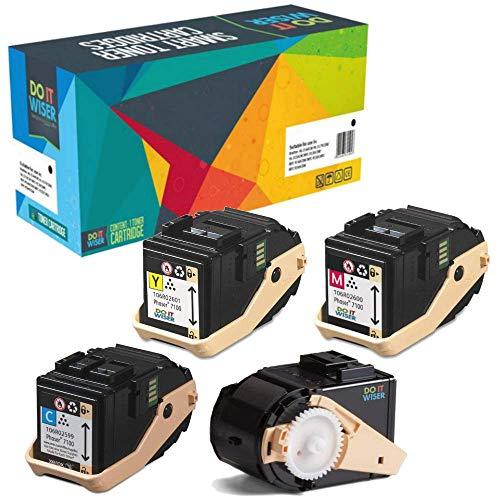 Do it Wiser 4 Toner Kompatibel für Xerox Phaser 7100 7100N 7100DN   106R02605 106R02599 106R02600 106R02601 (Schwarz 5.000 und Farben 4.500 Seiten) -