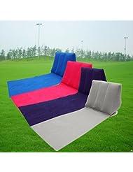 Bazaar Outdoor PVC aufblasbare Camping Zurück Kissen Kissen Stuhl Reisen Freizeit Lounger Matten Auflage