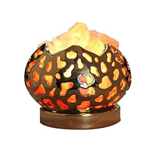 ZDQ Tischlampe Salz Lampe kreative romantische warme europäische Kristall Titan Keramik...