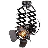 Linkax Industrielle Vintage LED Pendelleuchte Hängeleuchte Vintage Wandleuchte Wandlampe deckenleuchte mit Ziehharmonika-Arm ohne Birne