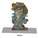 Buchstütze Bob Dylan, US-amerikanischer Musiker und Lyriker, ca. 23 cm hoch,