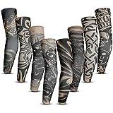 Rovtop 8 PCS Manicotti Braccia (Tatuaggi Temporanei), Unisex, Tatuaggio Manica per Protezione Solare, Maniche Tattoo Temporaneo, di Protezione Solare