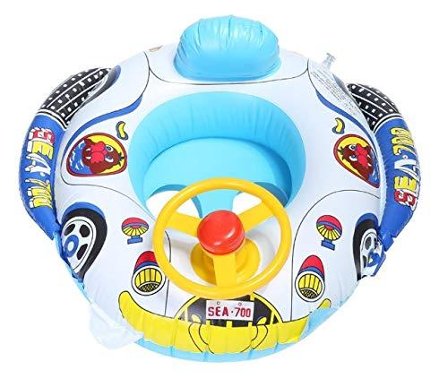 Baby Floats Flotador para Bebe con Asiento. Resistente. para Playa y Piscina. Anillo de natación inflabe. Hinchable para Bebes de 4 Meses a 3 años, de 6 a 36 Meses. Tela Gruesa para Hacerlo Fuerte.
