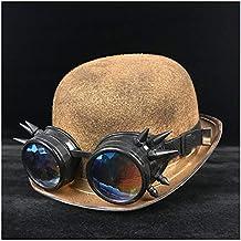 YAJIE 9 Estilo Retro Lolita Damas Hombres Steampunk Dome Hat Gafas Sombrero  de Copa Sombrero de f9cb4048377b