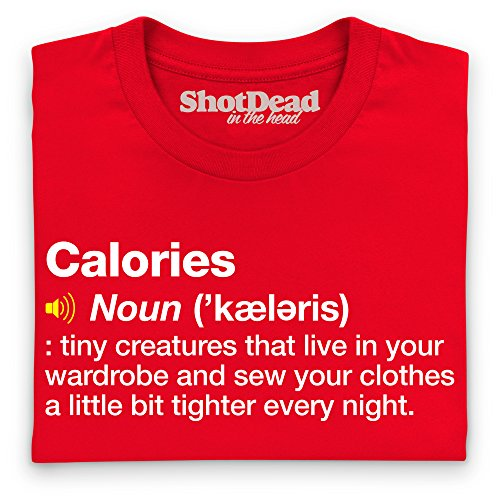 Definition of Calories T-Shirt, Damen Rot