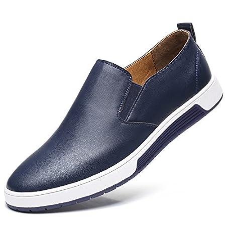 Herren Leder Business Schuhe Casual Anzugschuhe Zum Reinschlüpfen Halbschuhe Anzüge Hochzeit Schuhe Mokassins Flache…