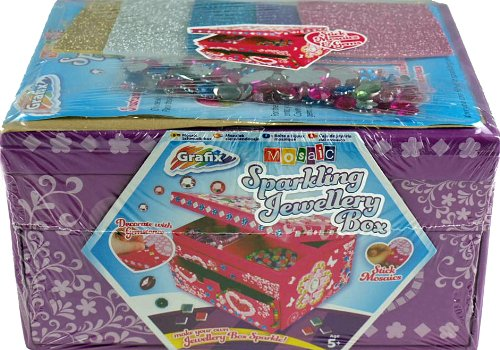 Grafix Make Your Own Art Glam Jewellery Box - Jam Packed With Sparkling Gems