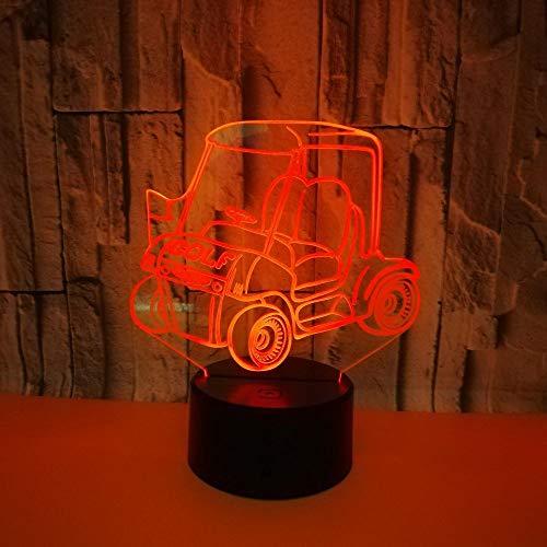 Golf Cart 3d Nachtlicht Touch Control Geschenk Bunte Tisch 3d Lampe Nachttischlampe für Kinderzimmer