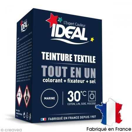 Idéal Teinture textile Tout en Un marine la boite de 230 g