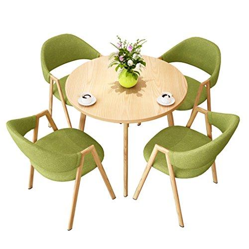 KTYXGKL Einfacher Empfang, Besprechung, Konferenz, Büro, Freizeit, Tisch Und Stuhl, Kombination, Cafe, Teeladen, Kleine Wohnung, Runder Esstisch Klapptisch -