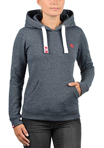 DESIRES Bennja Damen Kapuzenpullover Hoodie Sweatshirt mit Kapuze aus hochwertiger Baumwollmischung Meliert, Größe:M, Farbe:Insignia Blue Melange (8991) - 2