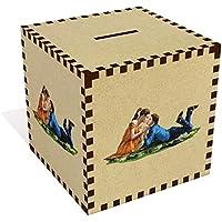 Preisvergleich für Azeeda Groß 'Liebendes Paar' Sparbüchse / Spardose (MB00072566)