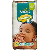 Pampers - 81367669 - New Baby Couches - Taille 3 - 4-7 kg - Format Géant x 50 Couches