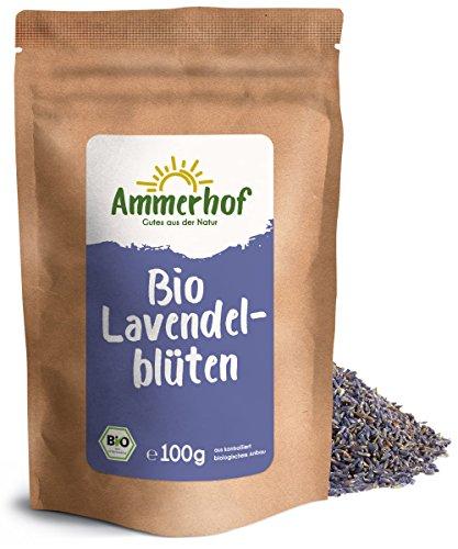 Bio Lavendelblüten (100g) - Bio Lavendel getrocknet, ganze Blüten in Lebensmittelqualität aus...