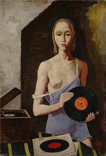 oil-painting-karl-hoferthe-record-player1939-printing-on-high-quality-polyster-canvas-24x35-inch-61x
