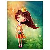 Topposter Poster für Kinderzimmer - Kleine Prinzessin (Poster in Gr. 40x60cm)