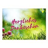 Große XXL Dankeskarte mit Umschlag / DIN A4 / Herzliches Dankeschön Wiese / Dankeschön / Danke sagen / Danksagung