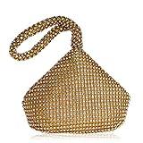 Sandy Cowper Shoulder Le Corps Mou perlé de Poche de Poignet de Bracelet Souple Doux de Corps de Femmes élégantes d'embrayage p Womens (Couleur : Or)