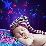 Star LED Clock Children Sky Star Night Light Projector Lampe Womar Alarm Uhr mit Music Backlight Kalender Thermometer für Kinder Geburtstagsgeschenk.