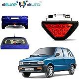 Allure Auto Red 12 LED Brake Light with Flasher for Maruti Suzuki 800