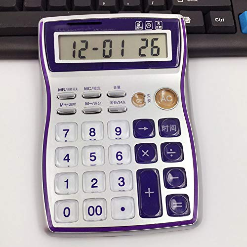 Rechner Tischrechner 8-stellige Kristalltaste Kalenderfunktion genaue Zeit Einstellung der Lautstärke des Alarms Unabhängige Gedächtnisverzögerungstaste