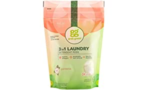 Grab Green Naturally-Derived, Plant & Mineral-Based Laundry Detergent Pods, Gardenia, 24 Loads