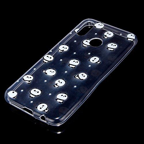 Coque Huawei P20 Lite,Etui Housse Huawei P20 Lite,Surakey Impression de Motif Transparente Souple Silicone Housse Etui Coque de Protection en TPU Bumper Case pour Huawei P20 Lite, Panda