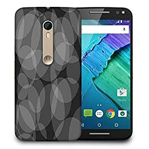 Snoogg Grey Circles Black Pattern Printed Protective Phone Back Case Cover For Motorola X Style
