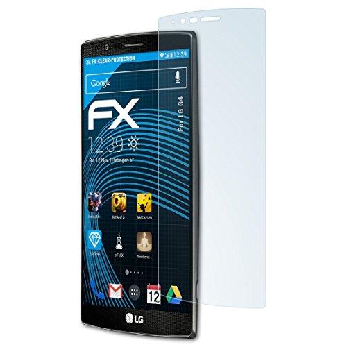 atFolix Schutzfolie kompatibel mit LG G4 Folie, ultraklare FX Displayschutzfolie (3X)