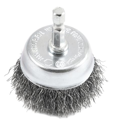 Forney Forney 72729 Wire Cup Brush, Coarse Crimped with 1/4-Inch Hex Shank, 2-Inch-by-.012-Inch