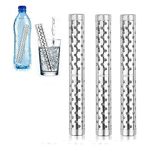 HailiCare 3 Pcs Alkaline Water Filter Purifier Stick Health pH Ionizer Negative Ion Alkaline Water (Mantenere Pressione Sanguigna)