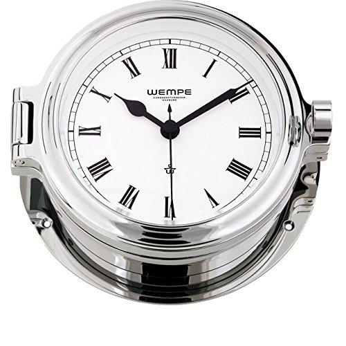 Arabische Ziffern Wempe Chronometer Yachtuhr Bullaugenuhr Cup Messing Ø 140mm