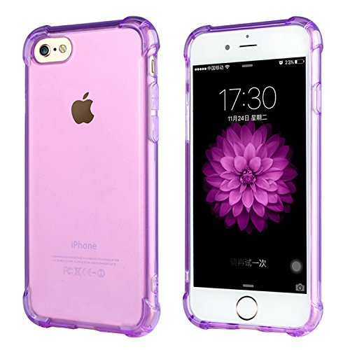 ARTLU® iPhone 6S Hülle iPhone 6 Schutzhülle Case Stoßfeste Transparent Handyhülle Schutzhülle Durchsichtig TPU Crystal Clear Case Backcover Bumper Slimcase A06 A6