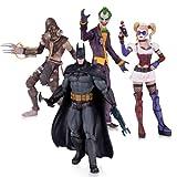 DC Comics Arkham Asylum Joker Harley Épouvantail Batman Action Figure (lot de 4)