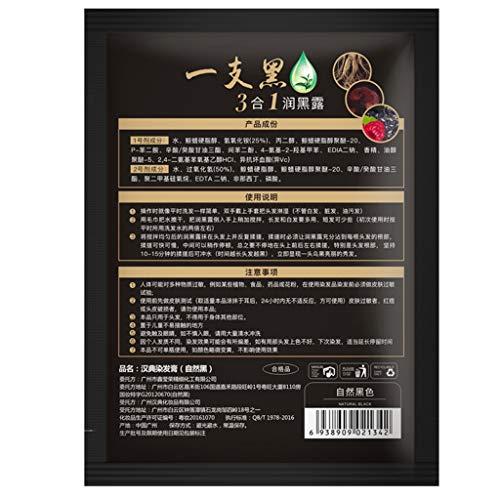(Weißes Haar in Schwarz 2019 lot Sofortige Haarfärbemittel Black Hair Shampoo Easy 28ml / bag)