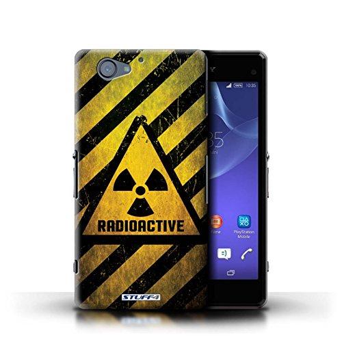 Kobalt® Imprimé Etui / Coque pour Sony Xperia A2 / Bruit/Musique conception / Série Signes de Danger Radiation