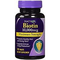 Natrol: Biotin, 10,000 mcg Maximum Strength, 100 tabs (4 pack) by NATROL