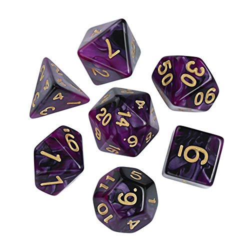 Game Dungeons & Dragons Polyhedral D4-D20 Mehrseitige Acryl Würfel 7St ()