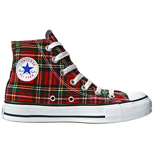 Converse All Star Schottenmuster Ska Chucks Red/Tartan Hi 1Q455 Grösse 36,5 (UK: 4)