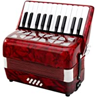 Classic Cantabile 31496 - Acordeón para niños 8 bajos, color rojo