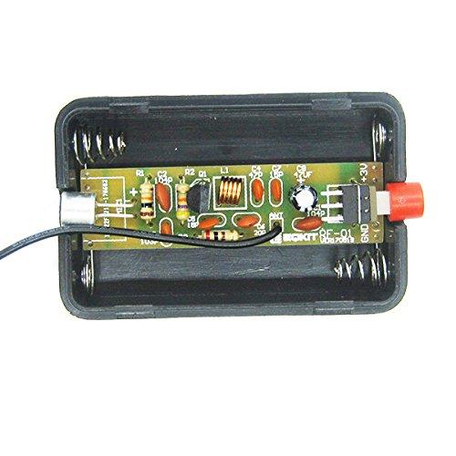 LaDicha 10 Pcs RF-01 DIY sans Fil Microphone Pièces 5 mA 70 MHz FM Transmetteur Kit de Production avec Antenne