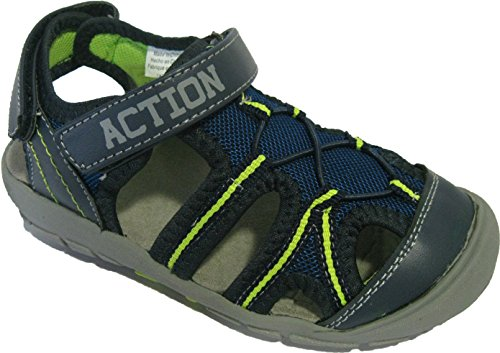 Sandales à scratch pour garçons Bleu