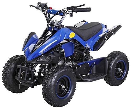 Actionbikes Motors Kinder Miniquad ATV Racer 49 cc - Scheibenbremsen - Luftbereifung - Drosselbar - Fernbedienung (Blau Schwarz)