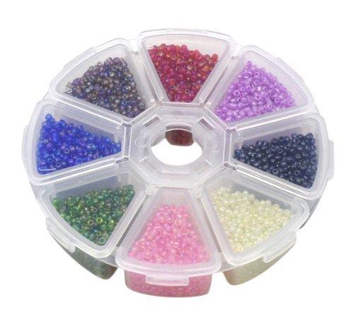 Bunte Acryl-Perlen, Spielzeug-Design, Schmuckherstellung, für Kinder, Halskette und Armband basteln, Glass Seed Beads